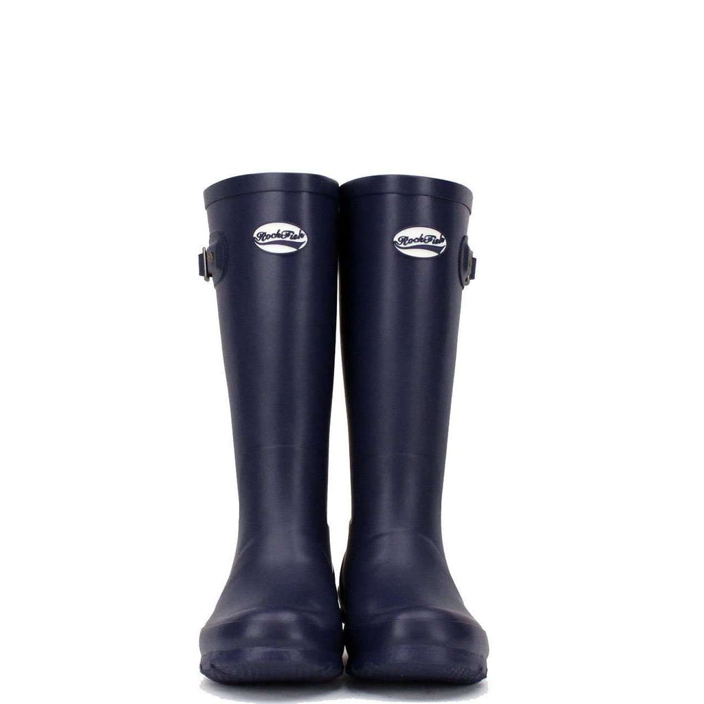 Navy blue school wellies