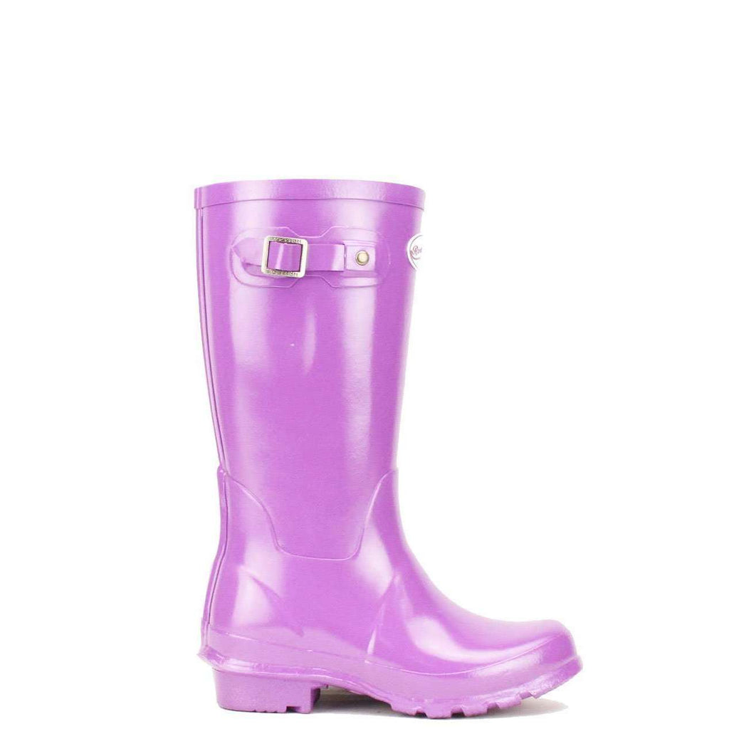 Kids purple violet wellies