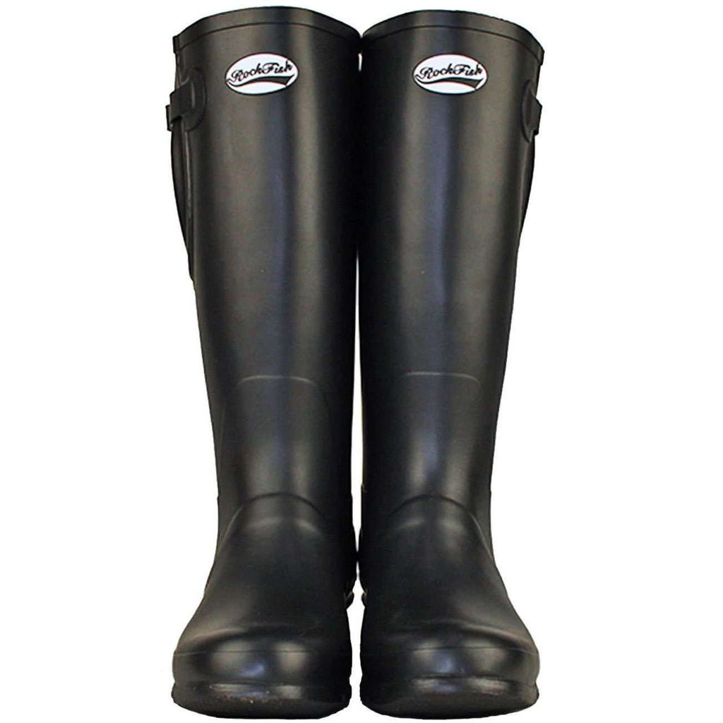Mens classic Black adjustable wellington boots