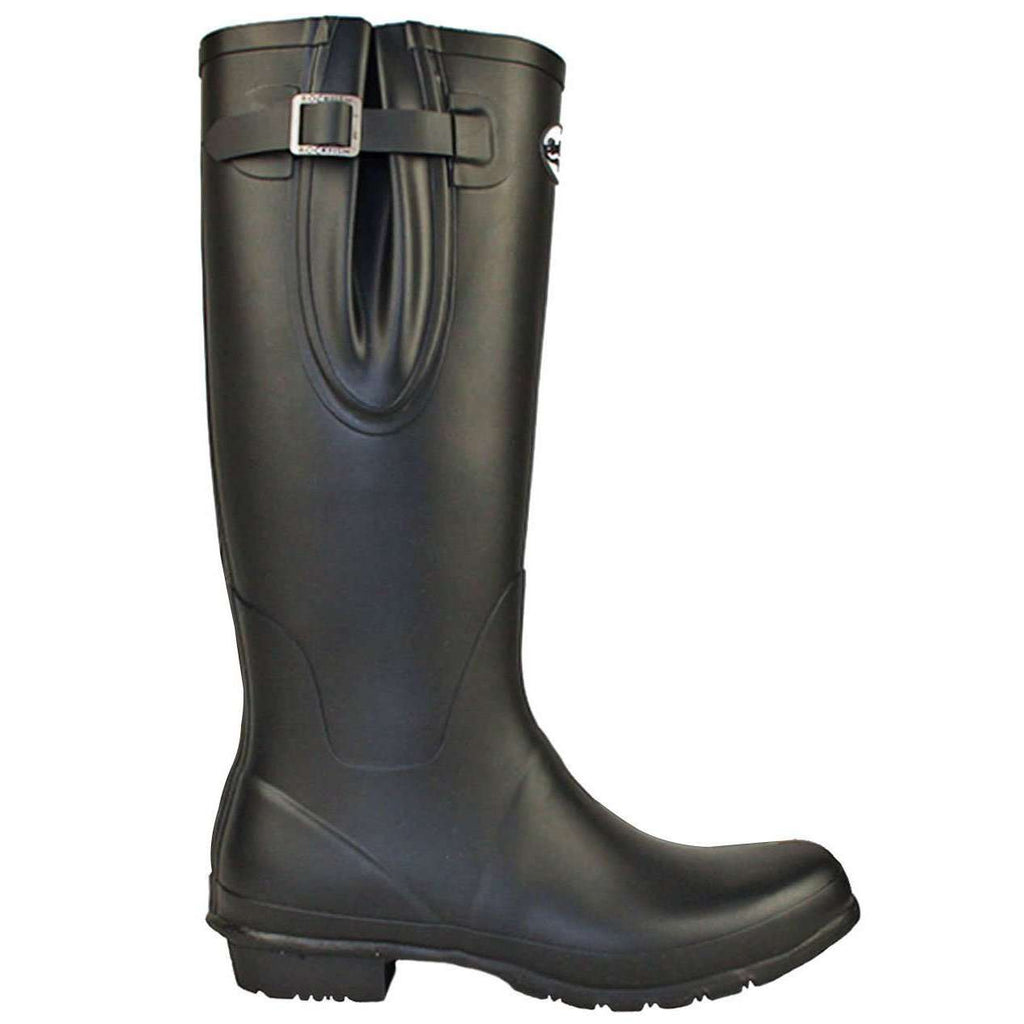 Rockfish Women's Tall Adjustable Matt Black Wellington