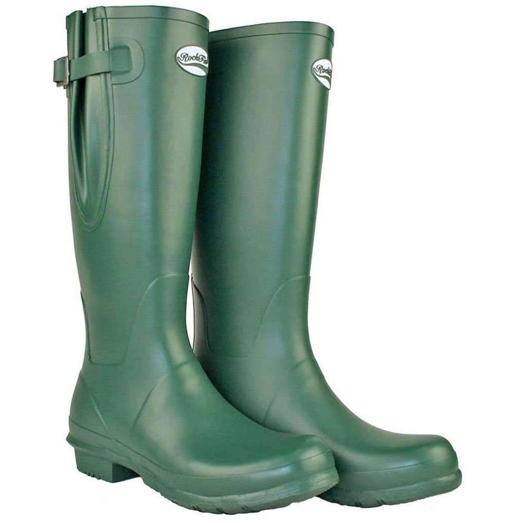 Rockfishwellies.com Ladies Adjustable Green Neoprene Lined Racing Green