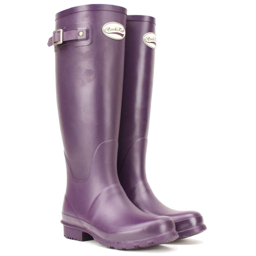 Rockfishwellies.com:Rockfish Women's Wellies Tall Matt Purple Grape Wellington