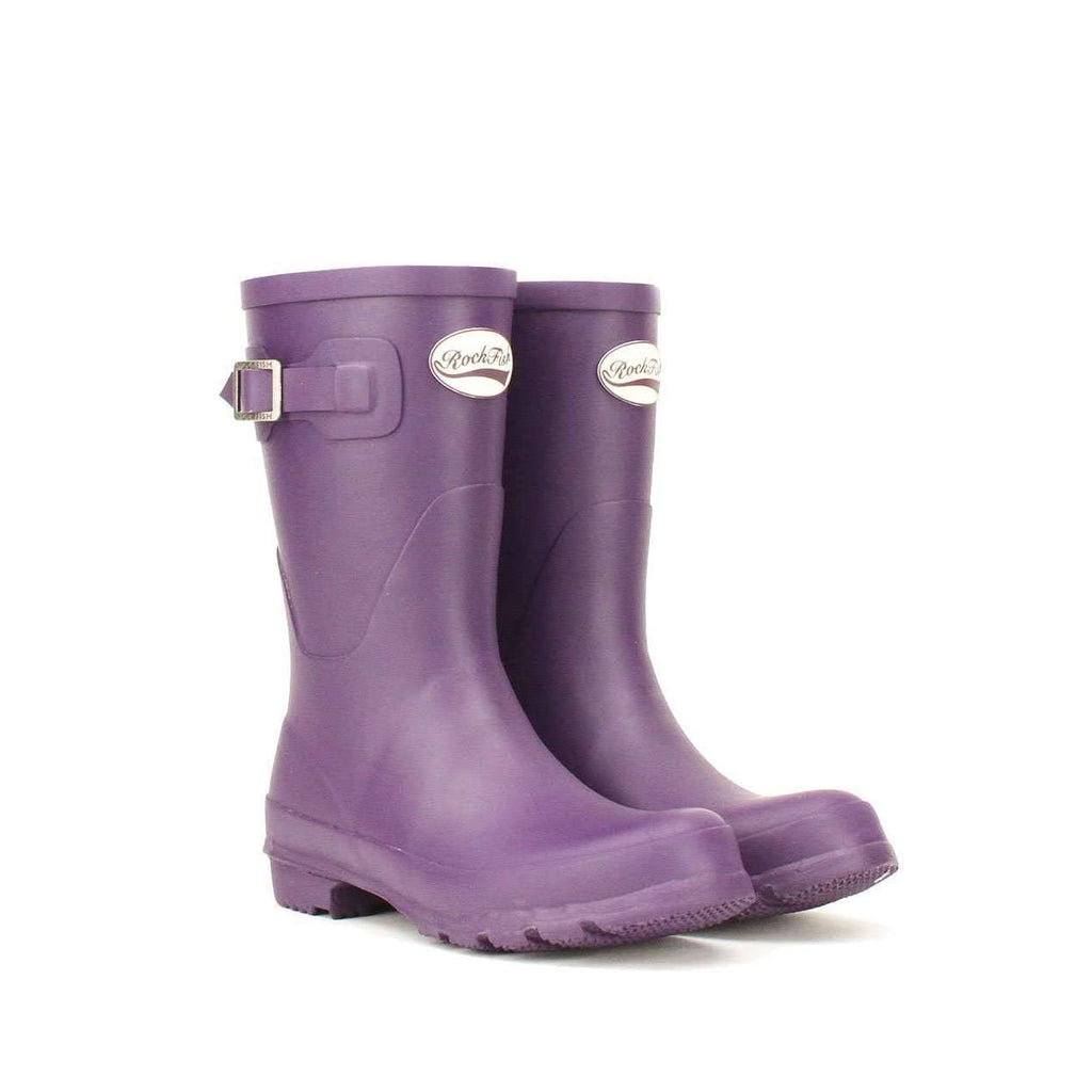 Rockfishwellies.com:Rockfish Women's Matt Purple Grape Short Wellington