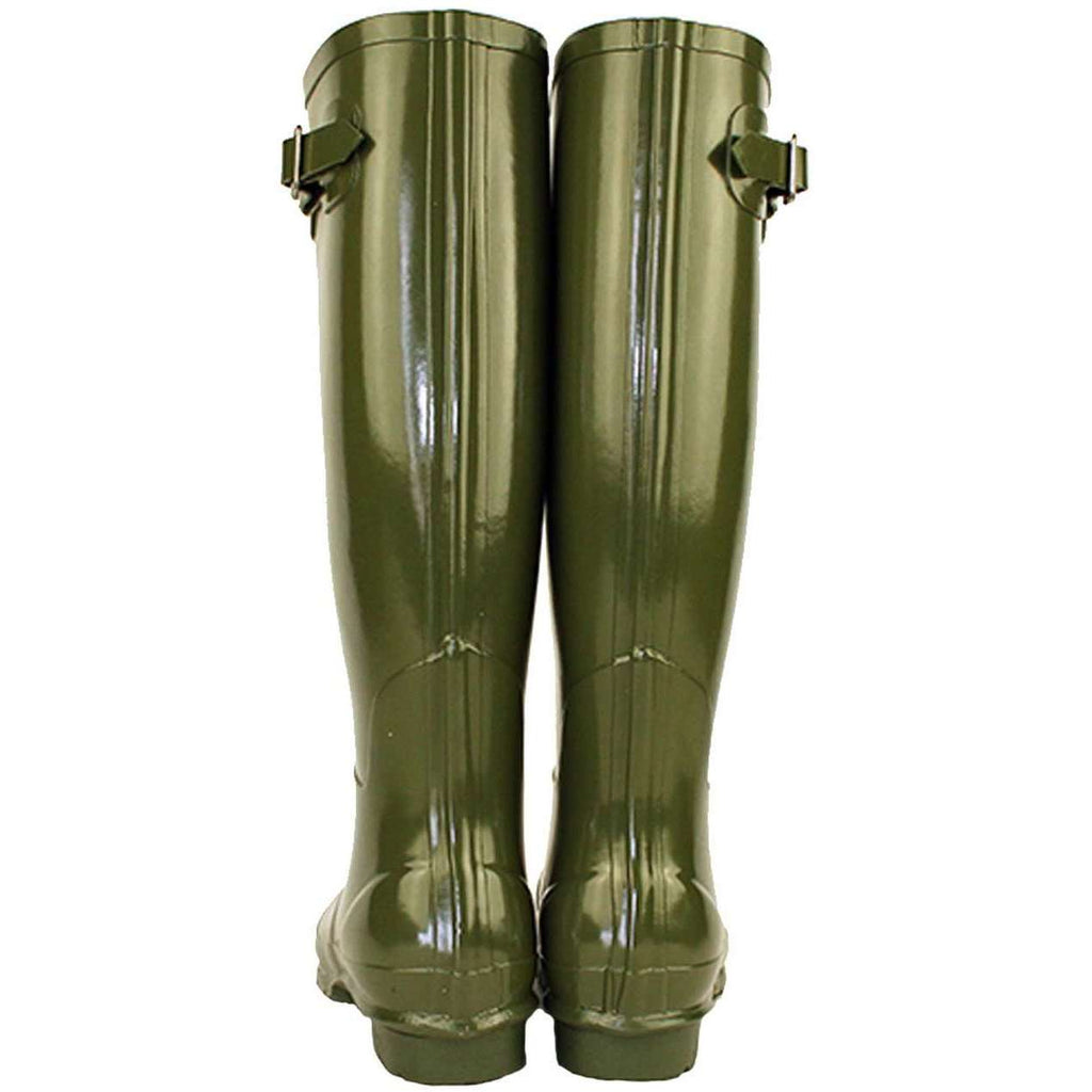 Rockfish Women's Tall Gloss Dark Green Olive Wellington