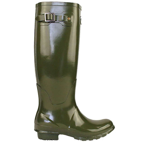 Rockfishwellies.com:Rockfish Women's Tall Gloss Dark Olive Wellington