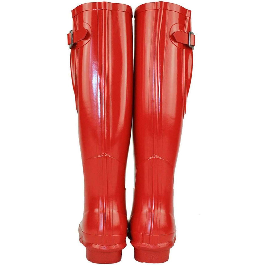 Women's Red Rockfish Adjustable Gloss Samba Red Wellies