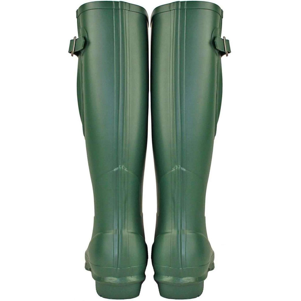 Green Women's wellington boots, adjustable strap from Rockfishwellies.com