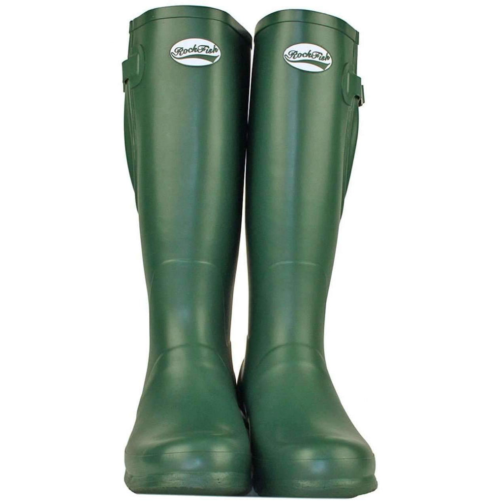 Rockfish Original Tall Neoprene Matt Racing Green wellington boot
