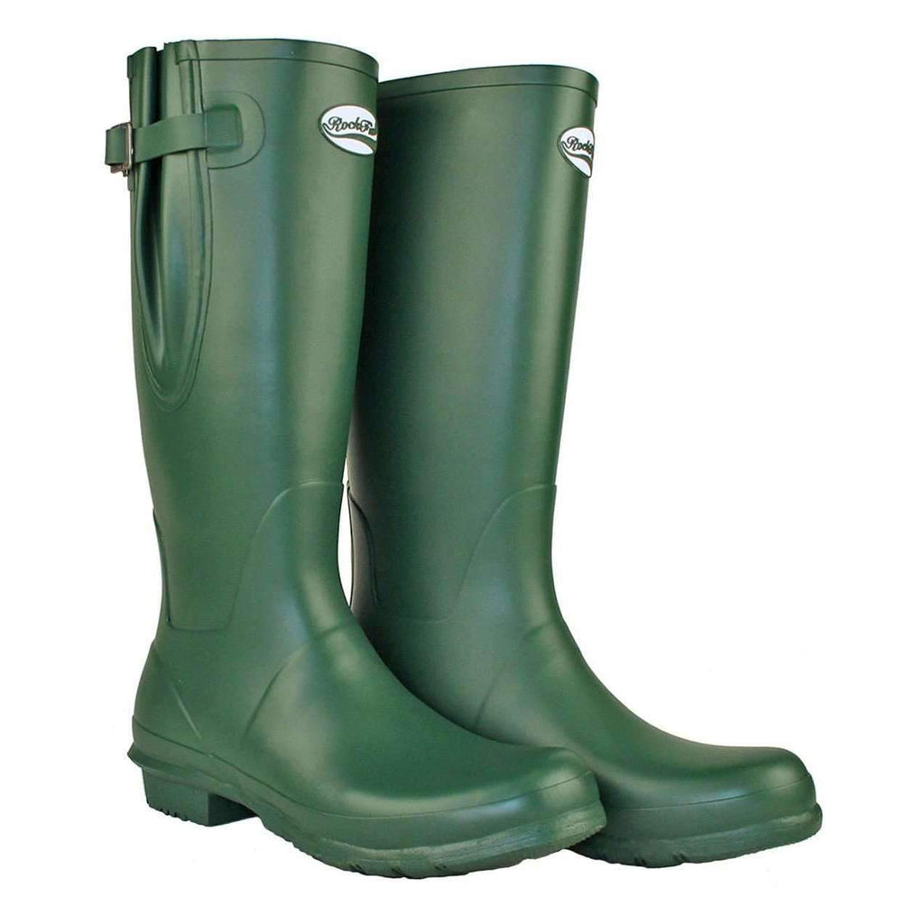 Rockfish Mens Green Welly Boots