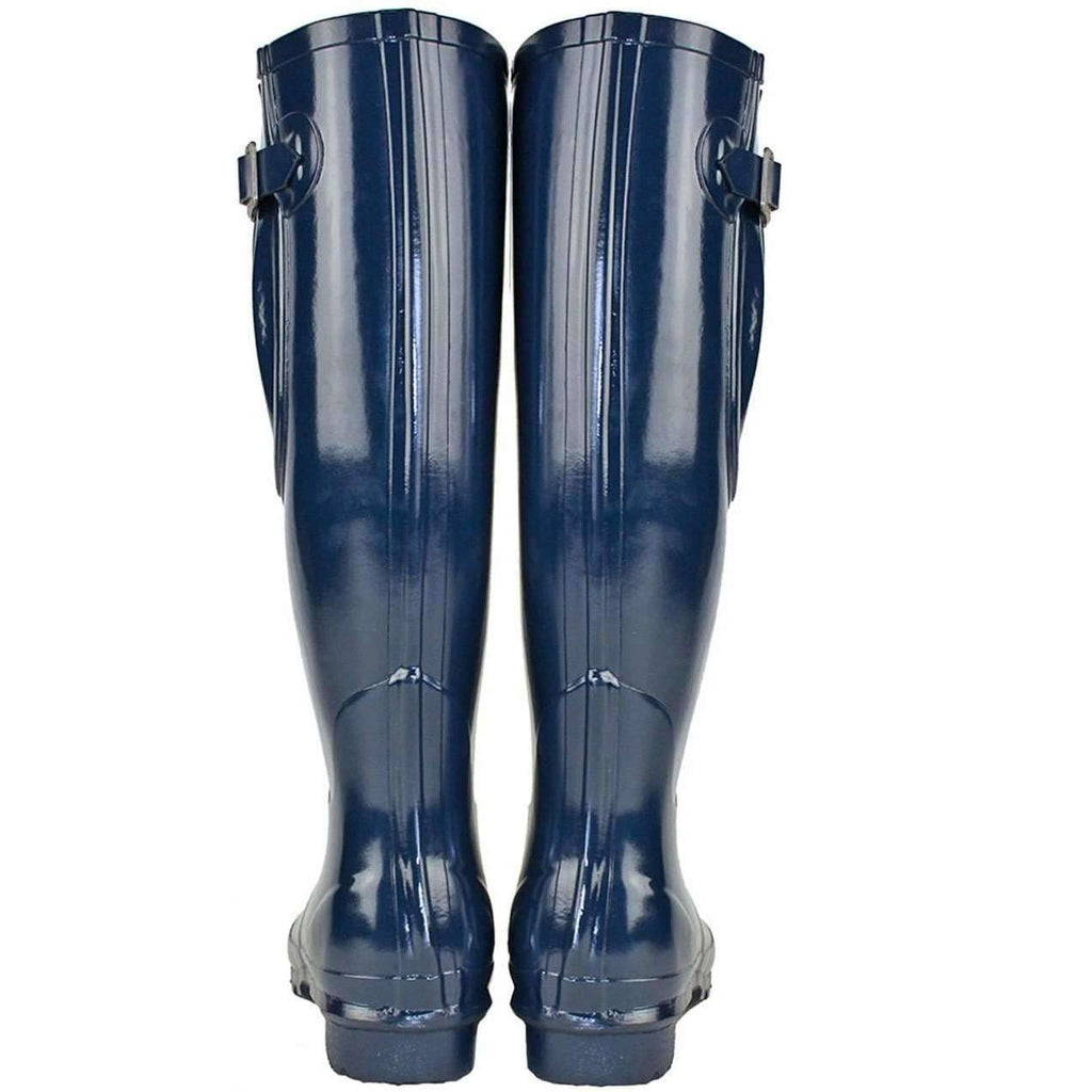 Rockfish Blue Tall Adjustable Gloss Our Navy Wellies