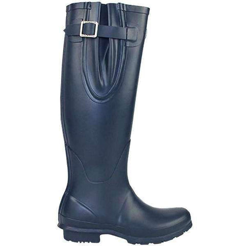 Rockfishwellies.com Womens Blue Adjustable Neoprene Matt Our Navy Wellington