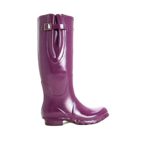 Rockfishwellies.com:Rockfish Original Tall Neoprene Gloss Mulberry Wellies