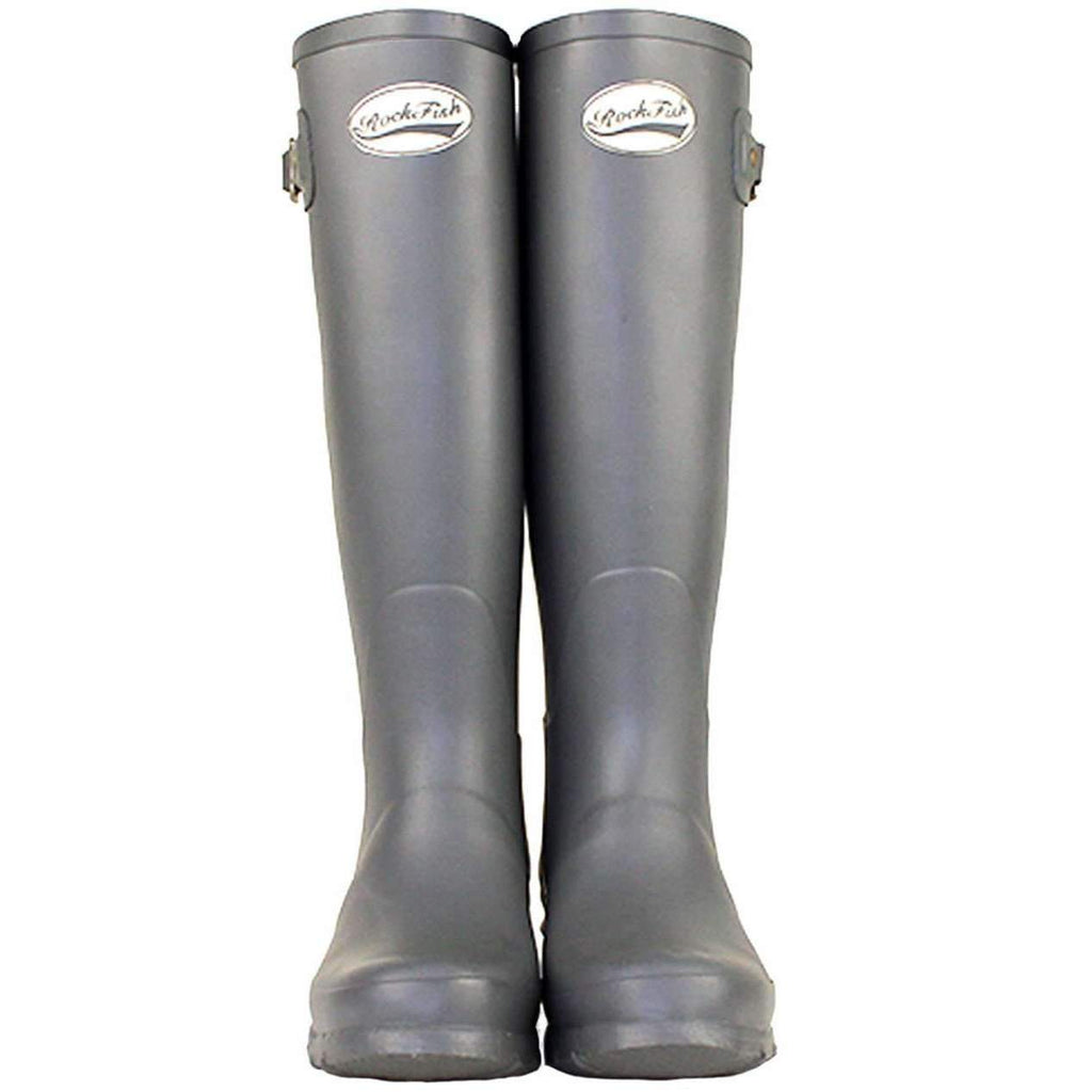 Rockfishwellies.com:Rockfish Original Tall Matt Earl Grey Wellies