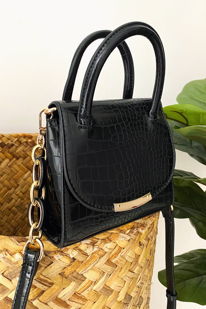 SUMMER IN SPAIN BLACK BAG