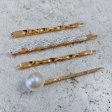 SET DE BROCHES PERLA & ENROSCADO
