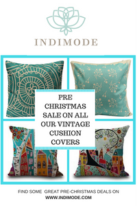 Pre-Christmas Sale on all our Vintage style cushion covers