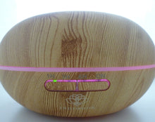 Aroma Diffuser / Humidifier in light wood with LED lights - 300ml - Indimode