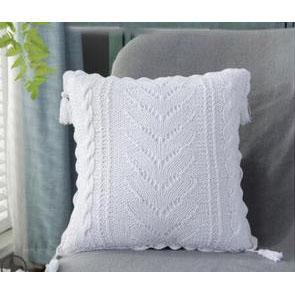 white crochet cushion cover