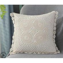 cream crochet cushion cover