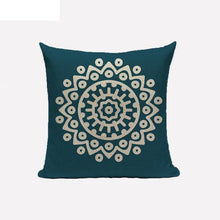 oil blue mandala cushion cover