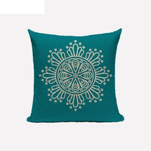 turquoise mandala cushion cover
