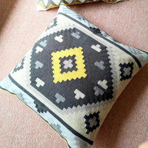 Kilim Geometric Embroidery Cushion Covers - Indimode
