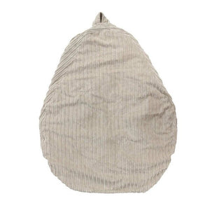 Cream Broad Lined Corduroy Bean Bag - 100cm x 120cm