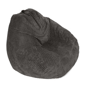 Grey Broad Lined Corduroy Bean Bag - 100cm x 120cm