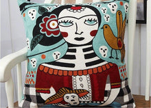 Frida Kahlo Embroidery Cushion Covers - Indimode
