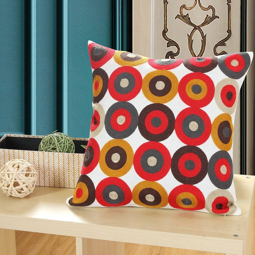 Retro Cool Embroidery Cushion cover - Indimode