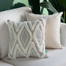 Grey Morroccan Geometric Woven Cushion Cover With Tassels