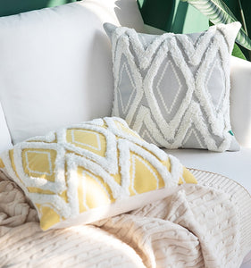 Morroccan Geometric Woven Cushion Cover With Tassels
