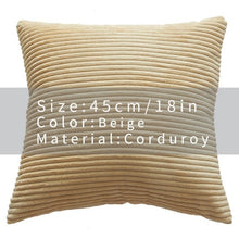 Cool And Funky Corduroy Cushion Covers beige