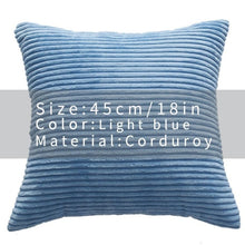 Cool And Funky Corduroy Cushion Covers light blue