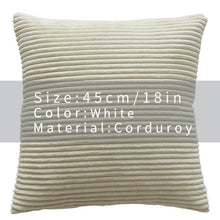 Cool And Funky Corduroy Cushion Covers white