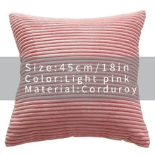 Cool And Funky Corduroy Cushion Covers pink