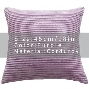 Cool And Funky Corduroy Cushion Covers purple