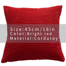 Cool And Funky Corduroy Cushion Covers red