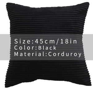 Cool And Funky Corduroy Cushion Covers black