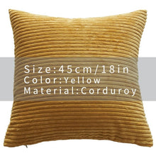 Cool And Funky Corduroy Cushion Covers yellow