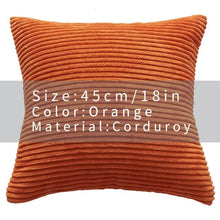 Cool And Funky Corduroy Cushion Covers orange