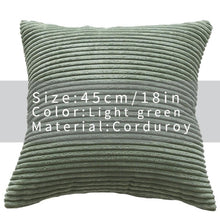 Cool And Funky Corduroy Cushion Covers light green