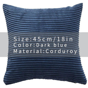 Cool And Funky Corduroy Cushion Covers yellow blue