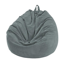 grey Thin Lined Corduroy Bean Bag