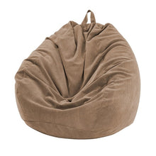 brown Thin Lined Corduroy Bean Bag