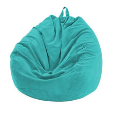 Blue Thin Lined Corduroy Bean Bag