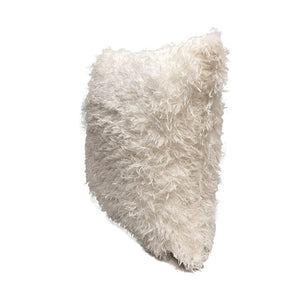 Cream Eco Feather / Fur Fluffy Cushion Covers
