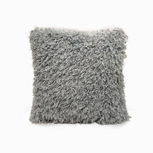 Grey Eco Feather / Fur Fluffy Cushion Covers