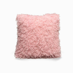 Pink Eco Feather / Fur Fluffy Cushion Covers