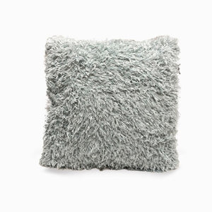 Green grey Eco Feather / Fur Fluffy Cushion Covers